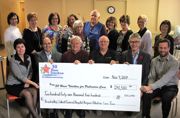 2018 Palliative Care cheque presentation