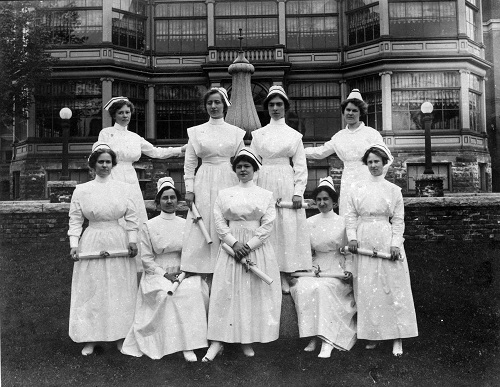 A graduating class from the Brockville General Hospital School of Nursing